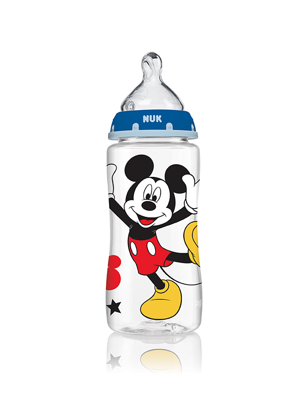 Disney<sup>&reg;</sup> Mickey Mouse and Minnie Mouse Bottle with Perfect Fit™ Nipple