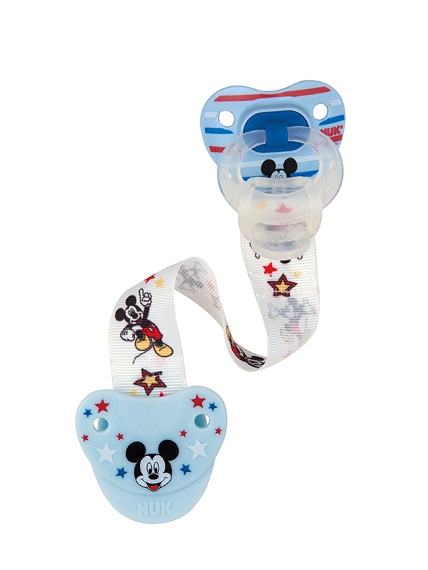 Disney<sup>&reg;</sup> Mickey Mouse &#038; Minnie Mouse Fashion Pacifier Clip